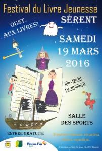 affiche retouchee -fond bleu nuit 2 festival livre - 2016 - version finale